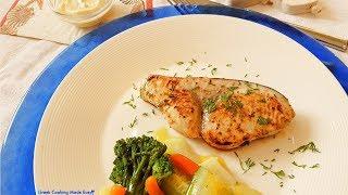 Greek Swordfish Grilled with Homemade Mayonnaise - Xifias - Ξιφίας στο γκρίλ με σπιτική Μαγιονέζα