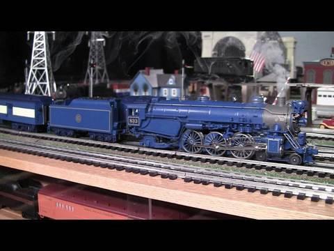 MTH Premier CNJ Blue Comet Pacific O-Gauge Steam Locomotive in True HD 1080p