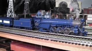mth premier cnj blue comet pacific o gauge steam locomotive in true hd 1080p