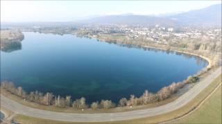 Pays de gex   survol campagne et lac de Divonne les Bains