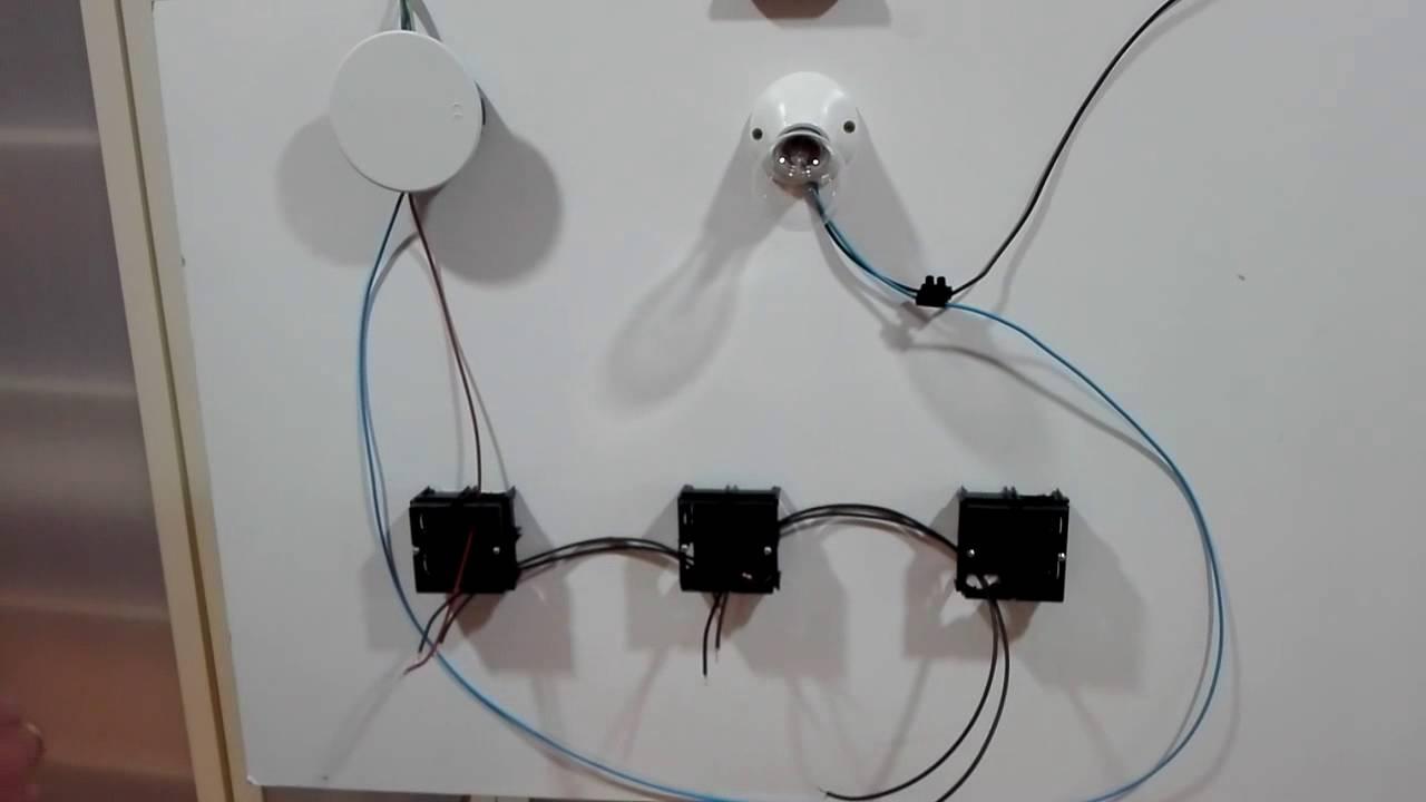 C mo instalar un cruzamiento con 3 llaves conmutadas - Conmutador de luz ...