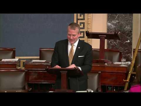 Sen. Dan Sullivan (R-AK) honors DeLynn Henry on the Senate Floor - February 15, 2017