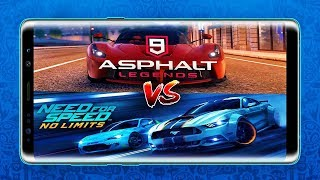 Asphalt 9  Vs NFS No Limit Gameplay 2018 XP4U