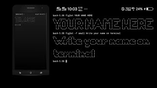 How to write your name on termux videos / InfiniTube
