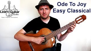 Ode To Joy - Easy Beginners Classical Guitar Tutorial - Beethoven - Drue James