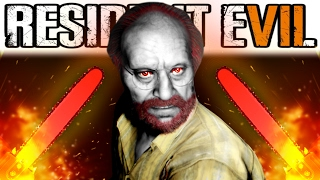 1000 DEGREE CHAINSAW VS OLD MAN CHALLENGE | Resident Evil 7: Biohazard Gameplay