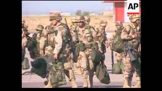 Kuwait - US Troops Arrive In Kuwait