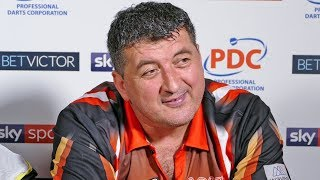 Mensur Suljovic reaches final and says; 'I only bought one shirt and one pair of trousers.'