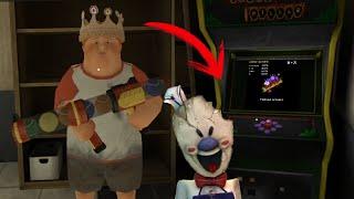 QUÉ PASA SI SACO MÁS PUNTAJE QUE EL GORDITO EN EL MINIJUEGO - Ice Scream 2 (Horror Game)   DeGoBooM