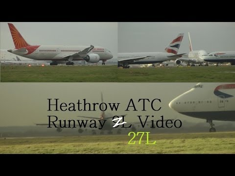 ATC Pilot Communications Windy London Heathrow Airport American 777, Air Canada A330 5th Dec