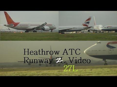ATC Pilot Communications Windy London Heathrow Airport American 777, Air Canada A330 5th Dec
