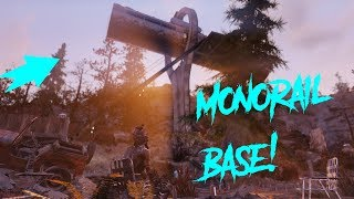 """Fallout 76 Scenic Monorail CAMP! """" Fallout 76 Monorail Base """""""