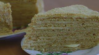 Медовый торт с мягкими коржами (Домашний кулинар)