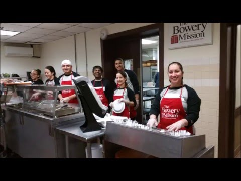 Esthetix Dental Spa Personnel Join With the Bowery Mission 12 Feb 2016