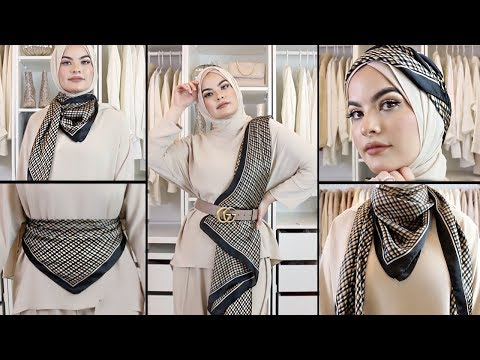 How To Style a Scarf in 10 ways! Omaya Zein - YouTube