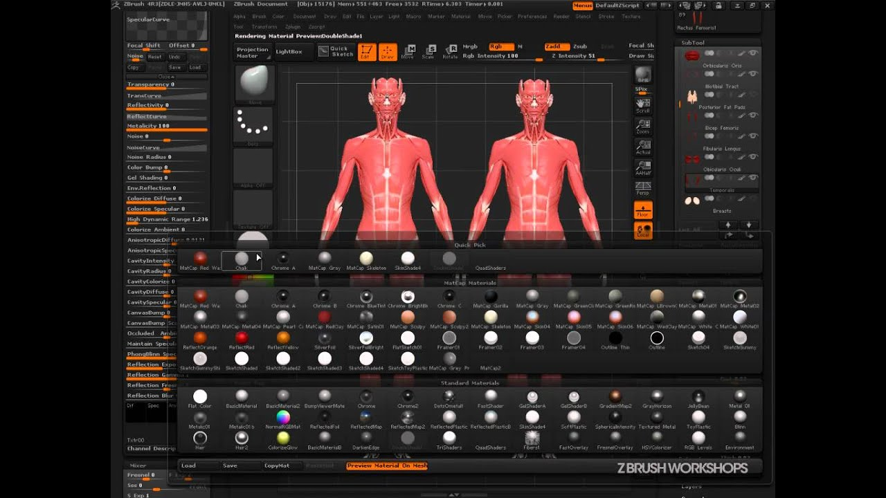 ZBrush Material System: Using The Mixer