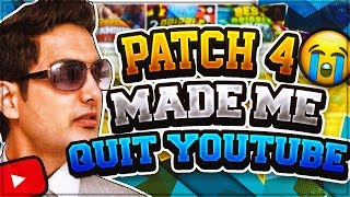 i m quitting youtube patch 4 ruined nba 2k18 ronnie2k made me quit youtube