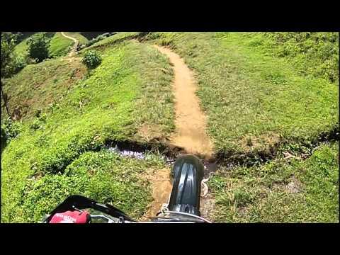 Honda CRF450R ride up part of Mt. Meru in Tanzania Africa