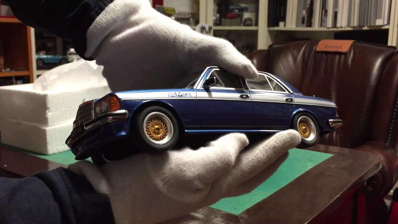 Modelcar Unboxing Mercedes W123 Amg By Otto Modelcars 1 18 Youtube