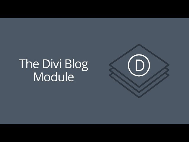 The Divi Blog Module