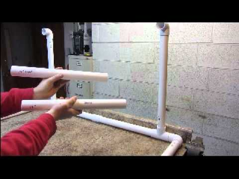 HOMEMADE GROW LIGHT STAND  PVC  How To Save Money And Do It Yourself