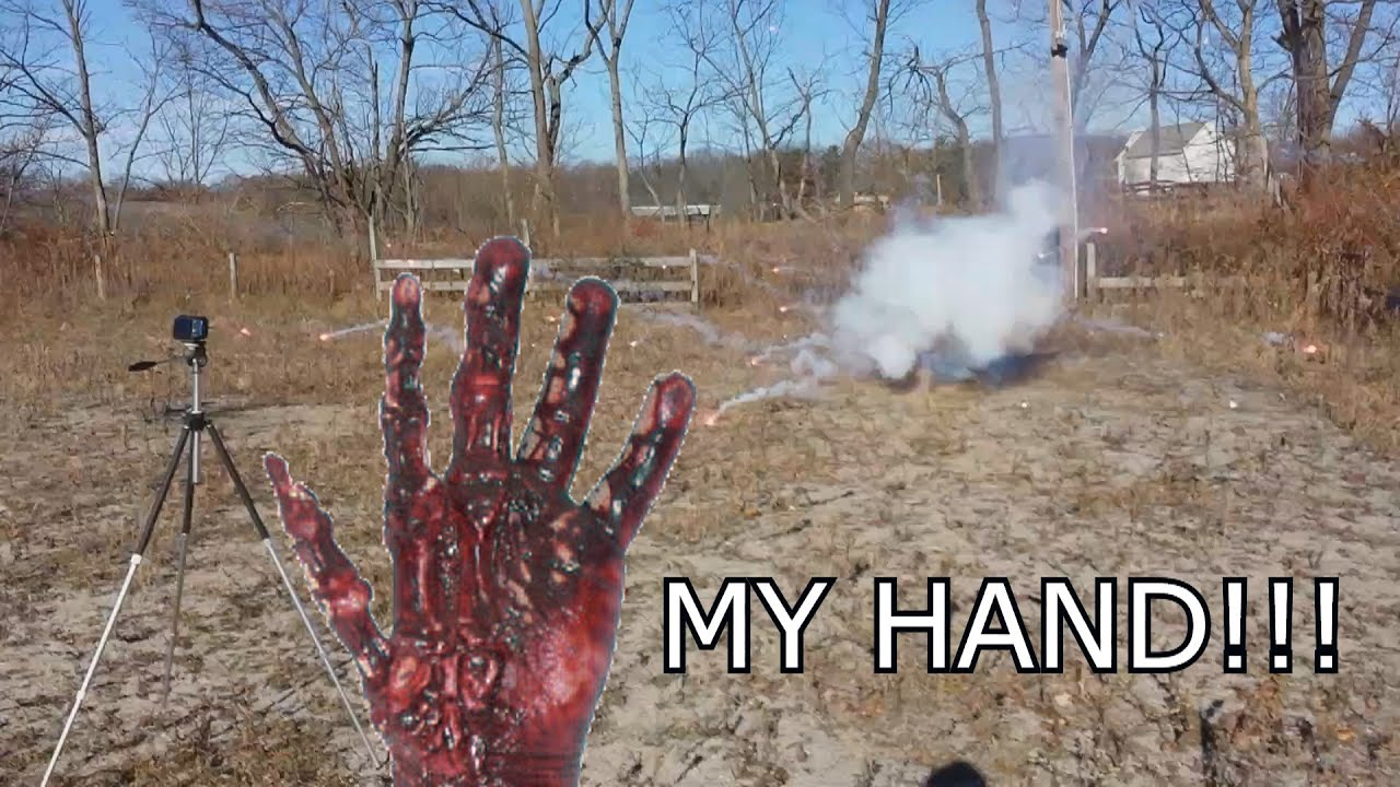 My Hand     Mortar Fireworks Fail