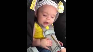 Funny baby sleep talking