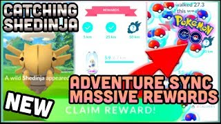 CATCHING SHEDINJA IN POKEMON GO | HOW TO USE ADVENTURE SYNC + CRAZY REWARDS