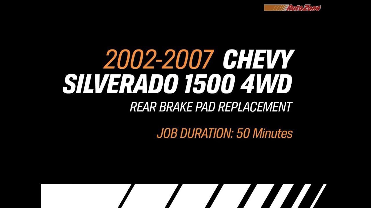 How To Change Rear Brake Pads For Chevy Silverado 2002 2007 Make Chevrolet 2500hd Auto Parts Diagrams Model Series
