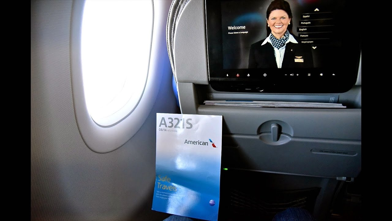 American Airlines A321 Main Cabin Extra Lax Las Youtube