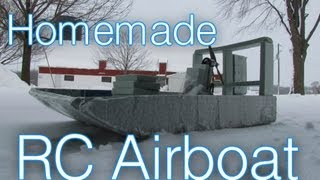 Electric Rc Airboat In The Snow