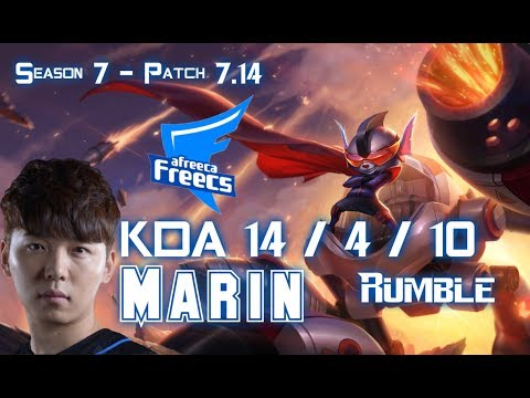 AFs MaRin RUMBLE vs KLED Top - Patch 7.14 KR Ranked
