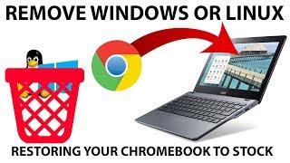 Restoring Chrome OS on a Chromebook