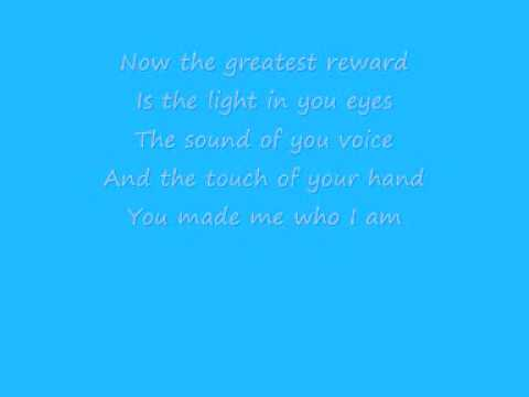 Celine Dion  - The Greatest Reward (Lyrics)