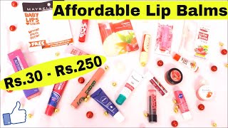 Best Affordable Lip Balms For Winters || Rs.30 - Rs.250 || Review & Swatches || Indian Beauty Surbhi