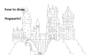 How to draw Hogwarts
