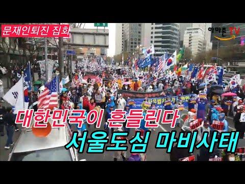 문재인퇴진 총궐기 대한애국당 태극기집회