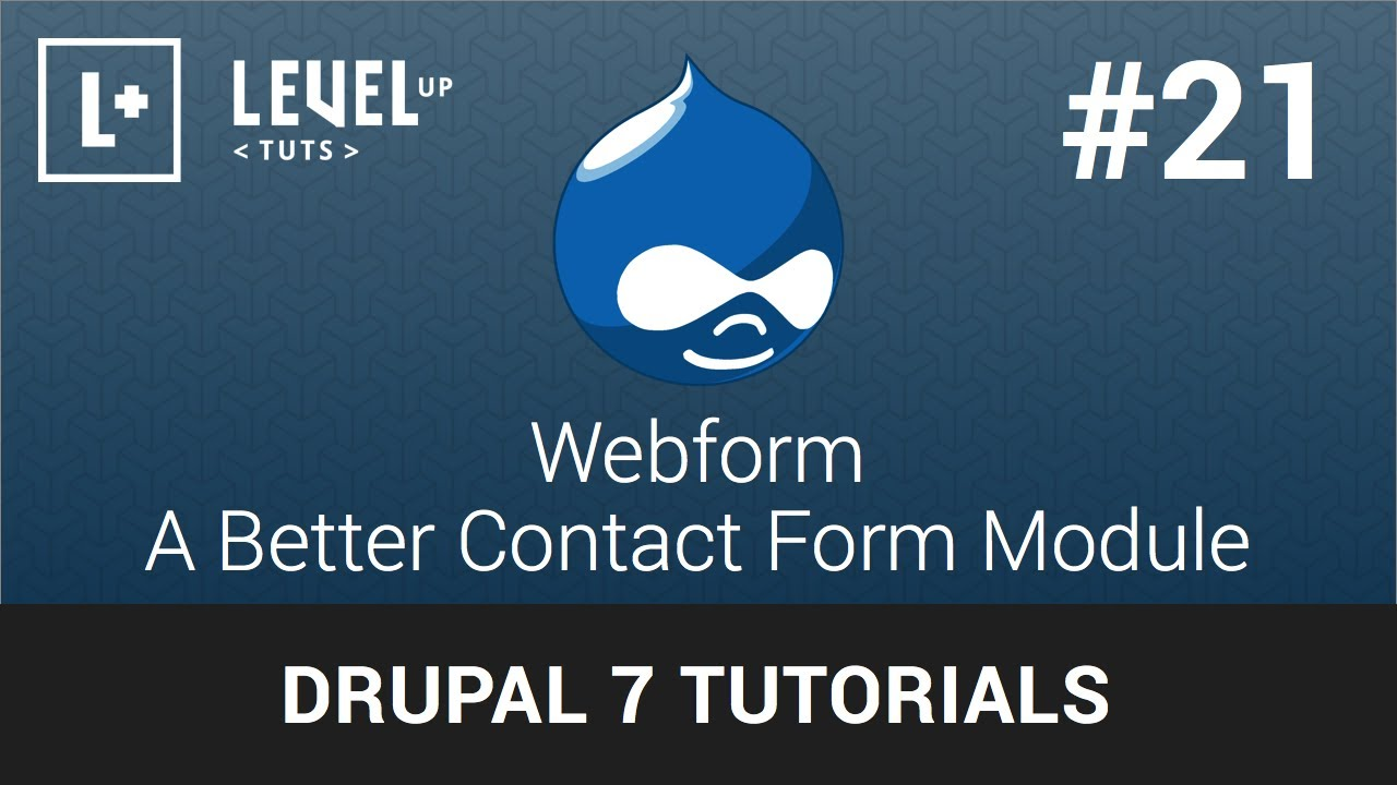 Drupal Tutorials #21 - Webform - A Better Contact Form Module