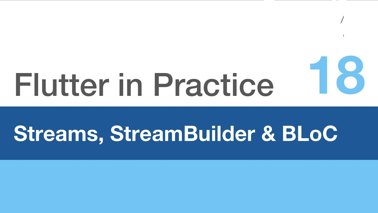 Flutter in Practice - E18: Streams, StreamBuilder & BLoC