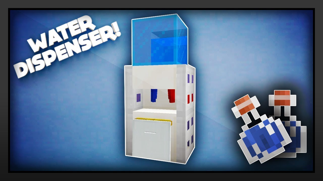 Minecraft - How To Make A Water Dispenser - YouTube