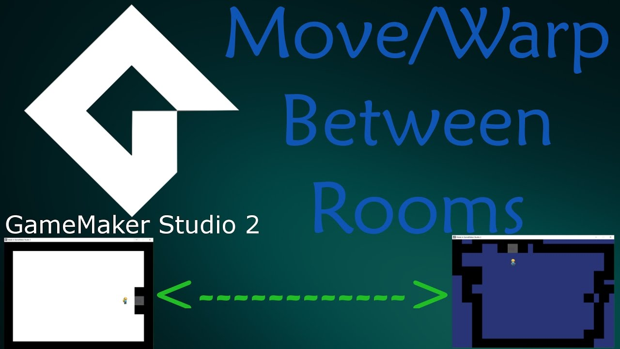 GameMaker Studio 2 – How To Transition Rooms Beginner Tutorial