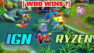 Global no 4 squad IGN vs Global no 7 squad ryzen - clash between global top squads - mobile legends