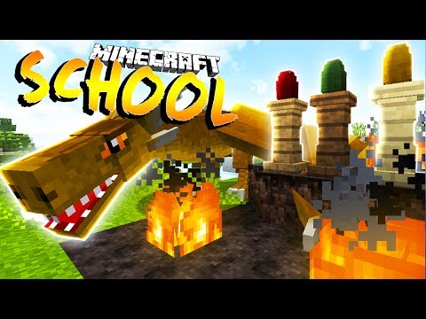 I GET A PET DRAGON !?- Minecraft School w/ Little Lizard