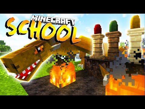 I GET A PET DRAG !? Minecraft School w Little Lizard