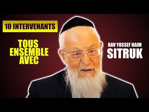 RAV SITRUK et LE BON MOMENT (avec 9 Rabbins) - rav yossef haim sitruk
