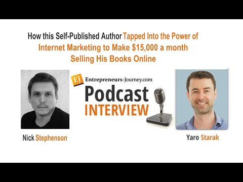Nick Stephenson: Self-Published Author Makes $15K/mo Selling His Books Video