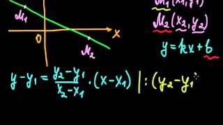 §11 Уравнение прямой, проходящей через две точки на плоскости