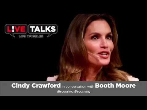 Cindy Crawford with Booth Moore at Live Talks Los Angeles