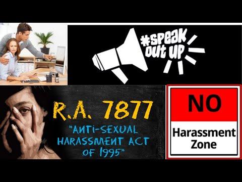 Republic Act 7877 : ANTI-SEXUAL HARASSMENT ACT. KAILAN/SAAN may panghaharras? #HumanRights101