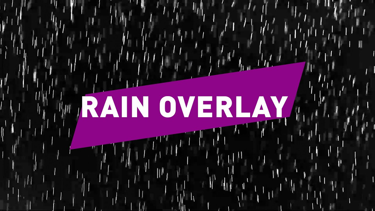 RAIN EFFECT REAL SLOW MOTION VIDEO OVERLAY // Free download link